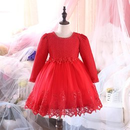 Wholesale Girls Formal Wear Wholesale - high quality Princess Big Kids dress Girl Evening Lace Sequins Tutu Tulle Dress Christening Clothes Flower formal Wedding Party wear A7534