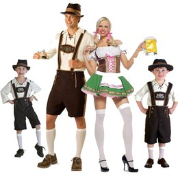Wholesale Carnival Uniforms Adults - Oktoberfest Carnival Costumes Family Parent-Child Outfit Beer Restaurant Bar Maid Uniforms Halloween Role Playing Adult And Kid