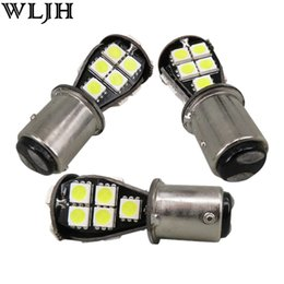 Wholesale Back Up Light Bulb - WLJH Canbus 1157 BAY15D Led 5050SMD T25 S25 Driving Lamp Bulb Car Brake Reverse Back Up Sourcing Light Turn Parking Signal Light