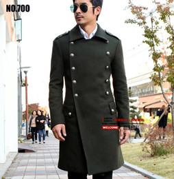 Wholesale Formal Overcoats - Men's brand German generals of World War II vintage long coat wool coat Slim Double-breasted long coat jackets Overcoat  S-3XL