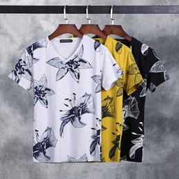 Wholesale Tee Shirt Collar Design - New Tops & Tees fashion design personality printing t-Shirts High-grade cotton round collar Short Sleeve men's T shirts size M-3XL