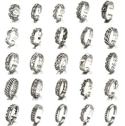 Wholesale Cheap Sterling Silver Fashion Rings - Newest Retro Thai Silver Ring 925 Sterling Silver Ring Opening Adjustable Ring, Women Fashion Jewelry Cheap Jewelry