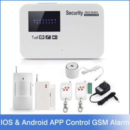 intercomunicador androide Rebajas NUEVO IOS Android APP Control Intercom Wireless GSM Sistema de alarma Inicio Kit de seguridad con retransmisión English Russian Language