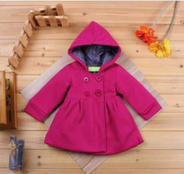 Wholesale Lolita Trench Coats - baby girl coat pure pink warm winter kids clothing children outwear trench fashion kids clothing wholesale and retail