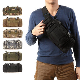 Wholesale Climbing Pouch - 2016 600D waterproof Oxford fabric Climbing Bags Outdoor Military Tactical Waist Pack Molle Camping Hiking Pouch Bag