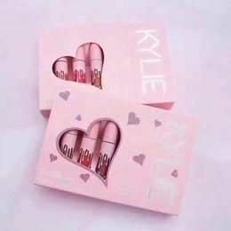 Wholesale Mini Love - Kylie holiday matte velvet 6pcs set lipstick pink love Cosmetics Matte Lipstick Lip gloss Mini Kit Lip holiday Edition lipstick DHL free