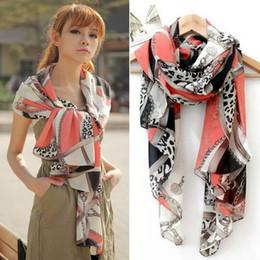 Wholesale Silk Scarf Hearts Leopard - Big promotion 2016 chiffon all-match multi-element leopard print chain heart pendant scarf silk scarf cape 165x70cm