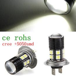 Wholesale Car Head Light Bulbs - 1156 1157 H4 H7 Cree Q5 SMD5050 12 LED Car Head Light Bulb Repalace Extreme Bright Long-lasting White Lamp TK0264