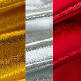 Wholesale Shiny Polyester Fabric - 2016 New 1.2m wide 10 meters Bronzing Fabrics Metallic Luster Shiny Soft Polyester Material Fabric For Party Decor 9 Colors