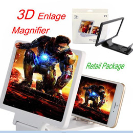 telefone verstärker Rabatt 3D Bildschirm vergrößern F1 Handy Bildschirm Lupe Verstärker mit Stander Falten HD Expander Lupen Halter für Telefon DHL OTH235