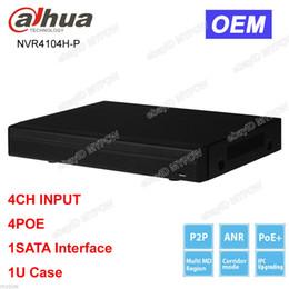Wholesale Udp Http - Dahua OEM NVR4104H-P 4CH Channel Smart Mini 1U 4 POE Network Video Recorder NVR