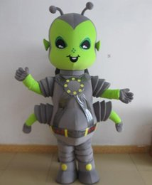 Wholesale Green Alien Mascot Costumes - SX0720 100% positive feedback a grey and green color alien insect mascot costume for adult to wear
