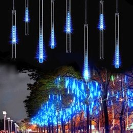 Wholesale Shower Curtain Lights - IMPopular 50cm 8 tube Meteor Shower Rain Tubes Outdoor Holiday Light New Year Decoration Christmas Lights Led Striing