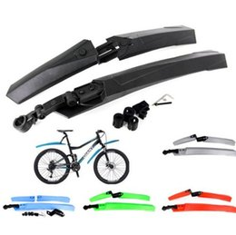 Wholesale Bike Mudguards Wholesale - Cycling Mountain Bike Bicycle Front Mudguard + Rear Fender Mud Guard Set Brand New Good Quality Free Shipping