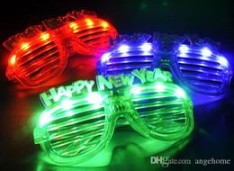 Commercio all'ingrosso lampeggiante LED occhiali Party Light Up lampeggiante novità regalo LED lampeggiante Up Glasses Halloween giocattolo regalo di Natale spedizione gratuita da