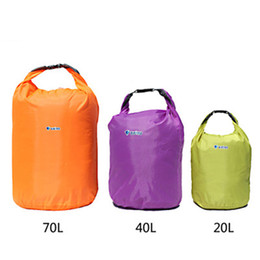 Wholesale Dry Bag Canoe Camping - Sports Outdoor Camping Travel Folding Portable 20L 40L 70L Waterproof Bag Storage Dry Bag for Canoe Kayak Rafting Kit Equipment 2503044