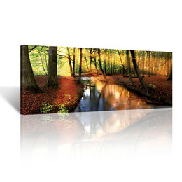 Wholesale Large Sunset Canvas - Giclee Canvas Prints - Large Size Framed Canvas Wall Art,sunset Autumn Forest Canvas Prints,landscape Paintings on Canvas Wall Art Decor