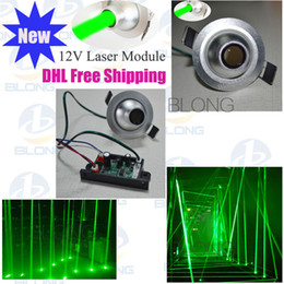Wholesale Laser Green Module - 12V green 80mw Laser Module Stage Lighting Accessories Ceiling laser rain Thick Laser Column Longtime life Low comsuption