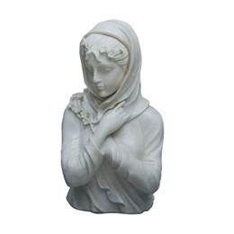 Wholesale Folk Life - Roman Bust Female Sculpture Crafts European Style Figure Still Life Statue Decoration Sculpture Crafts with Resin Silver Plating