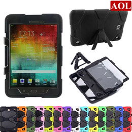 Wholesale Tab Silicon - Generic Rugged Armor Kickstand Case Cover For Samsung Galaxy Tab A P580 T580 10.1 T550 9.7 T350 T280 shockproof defender case