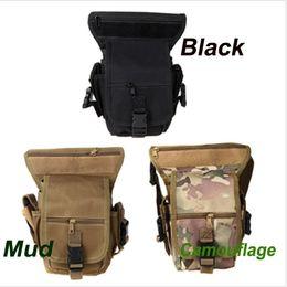 Wholesale Black Drop Leg Bag - 3Colors Outdoor Drop Leg Bag MotorcycleBike Cycling Thigh Pack Waist Belt Tactical Bag Multi-purpose CP Camouflage H10106