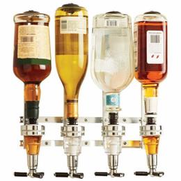 Estaciones de bar online-Montado en la pared Dispensador de vino de 4 estaciones Máquina de la barra Mayordomo Beber Vertedero Herramientas de la barra casera para la cerveza Soda Coca Cola Soda gaseosa