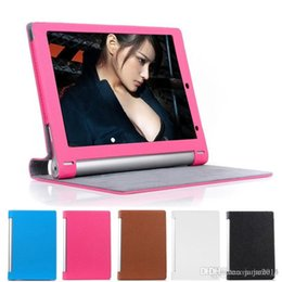Wholesale Lenovo Inch Tablet Accessories - Wholesale Folding Folio PU Leather case for Lenovo Yoga tablet B8000 10.1 inch cover Magnetic bag