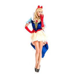 Wholesale Women Sleeping Beauty Costume - High quality sleeping beauty adult cosplay snow white halloween