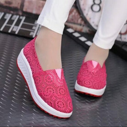 Wholesale Cheap Wedges Sneakers - Fashion brand women mesh shoes quality discount for sale wedge sneakers superstar roshe run breathable cheap casual athletic sport shoes