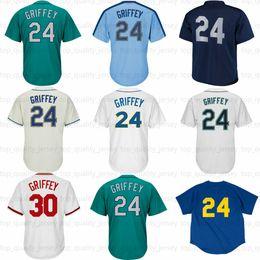 Wholesale Hall Fame - Mens Ken Griffey Jr Jersey 2016 Hall Of Fame Patch 30 Ken Griffey Jr. Baseball Jerseys
