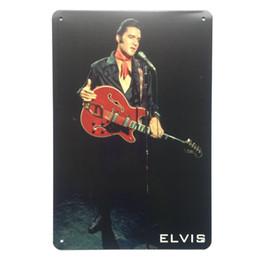 Elvis metall online-Elvis Retro Vintage Metall Blechschild Poster für Man Cave Garage Shabby Chic Wandaufkleber Cafe Bar Wohnkultur