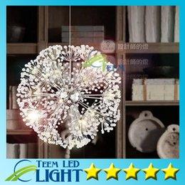 Minimalistische luxusbeleuchtung online-droplight 47 CM Europäischen Luxus Kreative Löwenzahn LED Kristall Kronleuchter Modernen Minimalistischen K9 Kristall Pendelleuchte Wohnzimmer Lichter