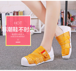 Wholesale Euro Hook - Summer 2016 world premiere of a new concept of the new stretch fabrics fashion casual shoes tide singles shoes hand-woven shoes, now in Euro