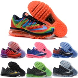 Wholesale Cheap Red Weave - Drop Shipping Wholesale Running Shoes Men Women Air Cushion 2016 New Color Sneakers Weaving Cheap Discount Sports Shoes Size 36-46
