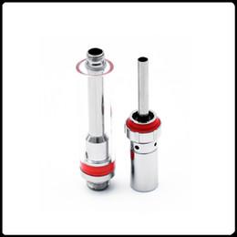 Wholesale Cartomizer Tube - Ceramic Coil Glass Tube Atomizer Oil Cartridge Ceramic Coil Tank 510 Thread Cartomizer For Bud Vape Pen E Cigarette