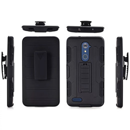 Wholesale Iphone Hard Case Holster Clip - Hybrid Future Armor Clip Belt Hard Soft Silicone gel Case Cover For ZTE Zmax Pro Z981 Iphone X 3 in 1 Shockproof Stand Holster Skin Cover