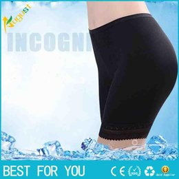 Wholesale Ladies Bamboo Pants - Summer Style Ladies Boxer Short Safe Pants Bamboo boyshort underpants with Lace Plus Sizes S-XXL new hot