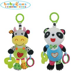 Wholesale Planes Plush - Baby Rattles Mobiles Toys Animal Cow Children Infant Plush Learning Products Kids Gift Hanging Crib Stroller Toys 2 Styles