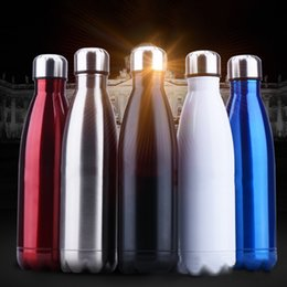 Wholesale Metal Bottle For Water - 350 500 750Ml Water Bottle Stainless Steel Sports Water Bottle Thermos Bottles Perfect For Sports Running Yoga Travel Gifts Mixed Color