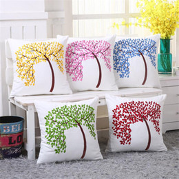 Wholesale Seat Lumbar Pillow - BZ136 Luxury Cushion Cover Pillow Case Home Textiles supplies Lumbar Pillow Fat Tree Embroidery pillows chair seat