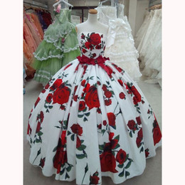 Wholesale Printed Satin Prom Dresses - Amazing Striking Floral Embroidery Celebrity Dress Sexy Strapless Ball Gown Prom Dresses Cannes Red Carpet Dresses Evening Gowns customized