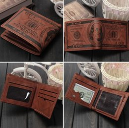Wholesale Mens Vintage Denim Shorts - Fashion men dollar purse wallet mix leather designer creativity card holders wallets for men mens wallet Creative denim purse