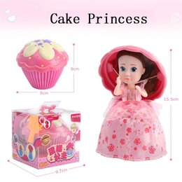 Wholesale Mini Birthday Cakes - Cupcake Princess Surprise Scented Doll Reversible Cake Transform to Mini Princess Doll Barbie 12 Roles 6 Flavors Magic Toys for Girls MK123