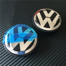 Wholesale Centre Wheel Caps Cars - 200pcs Good Quality New Car Stylying 65mm Wheel Hub Centre Cap Caps Cover Badge Emblem Badge Auto Logo 3B7 601 171 # For VW VOLKSWAGEN