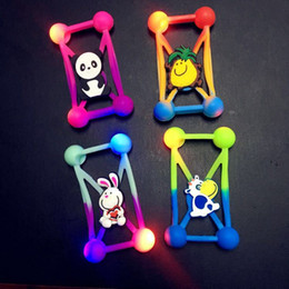 Wholesale Led 3d Iphone Case - 2017 Universal 3D Cartoon LED Lamp Bumper Case Luminous Soft Silicone Shell for iPhone 7 6s 6plus Note7 ZTE Zmax Fit For 3.5-5.5''