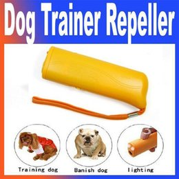 Wholesale Ultrasonic Anti Dog Repeller - Hot Sale Training Device Trainer With LED 3 in 1 Anti Barking Stop Bark Ultrasonic Pet Dog Repeller Shipping Free With DHL 161008