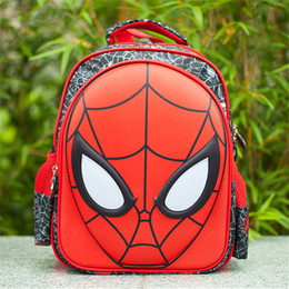 Wholesale Spider Backpack - Children Spider Man Masks Backpack Cartoon Kids Cute Backpack Bags School Bag for Boy and Girl Kids Satchel Backpacks Bags