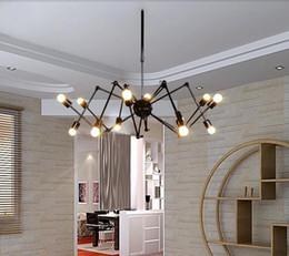 Wholesale Black Light Bar - E27 Drop light Vintage Net Spider Dining Room Pendant Lights Creative Bar Pendant Lamp Fashion DIY Cafe Fairy Pendant Lamp 6 8 heads
