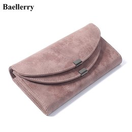 Wholesale Money Color - Luxury Leather Women Wallets Solid Color Hasp Long Purses Money Bag Credit Cards Holder High Quality Clutch Wallets Ladies
