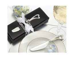 "Wholesale Giveaway Gifts - Free shipping ""spread the love"" stainless steel heart butter knife wedding favors and gifts for party giveaways wa4108"